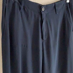 Vince Pants - Vince navy blue 100% silk pants 0